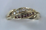 3CHWBD Ruby Dia .10ct Ladies Sterling Ring