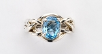 4BT Blue Topaz Ladies Puzzle Ring