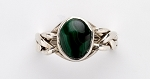 4MA Malachite Ladies Puzzle Ring