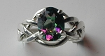 4MT Mystic Topaz Ladies Puzzle Ring