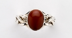 4RJ Red Jasper Ladies Puzzle Ring