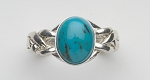 4TQ Turquoise Ladies Puzzle Ring