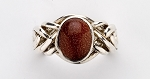 6GO Goldstone Ladies Puzzle Ring