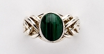 6MA Malachite Ladies Puzzle Ring