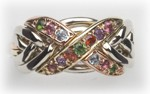 6NX Harlequin Ladies Sterling Ring