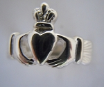 Claddagh Ring High Crown Mens Sterling Ring