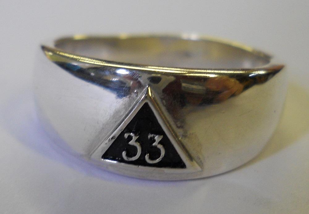 Small Masonic 33rd Degree Sig Mens Ring