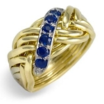 8WB-D Sapphire .25ct Ladies Puzzle Ring
