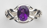 4AM Amethyst Ladies Puzzle Ring