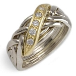 6WBD Diamond .30ct Mens Puzzle Ring