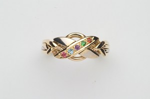 4NX Harlequin Ladies Puzzle Ring