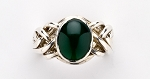 6AG Green Agate Ladies Puzzle Ring