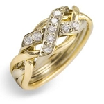 4N Diamond .15ct Ladies Puzzle Ring