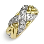6NX Diamond .32ct Mens Puzzle Ring