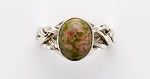 4UN Unakite Ladies Puzzle Ring