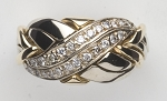 6BWN-WB Diamond .25ct Ladies Puzzle Ring