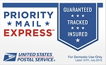 Upgrade to USPS Overnight Delivery via Priority Mail Express