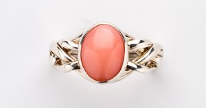 4PC Pink Coral Ladies Puzzle Ring