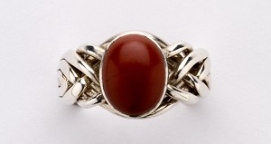 6RJ Red Jasper Ladies Puzzle Ring