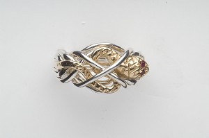 7S Ruby Ladies Puzzle Ring