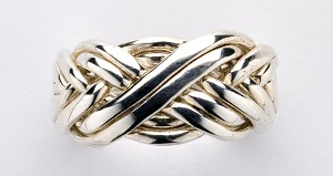 8BAW Mens Puzzle Ring