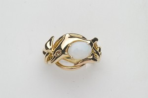 4DL Opal Ladies Puzzle Ring